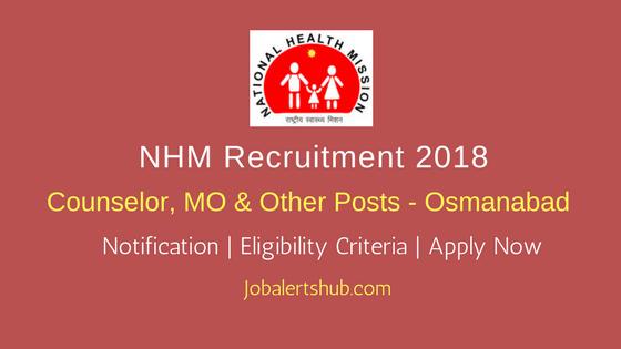 NHM Osmanabad Health Asst, Staff Nurse & Others – 101 Vacancies | Graduation/PG | Apply Now