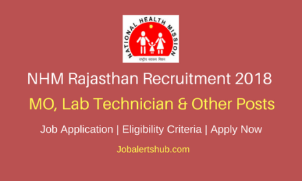 NHM Rajasthan 2018 MO, Lab Technician & Other Posts – 1043 Vacancies   Diploma, Graduation, PG   Apply Now