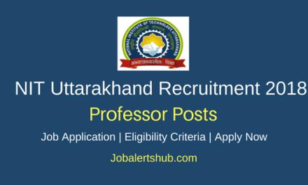 NIT 2018 Professor Teaching Posts – 38 vacancies   Ph.D   Apply Now
