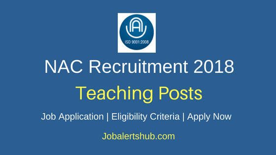 National Academy of Construction (NAC) Recruitment Jr. Faculty Posts – 02 Vacancies | M.E./ M.Tech | Apply Now