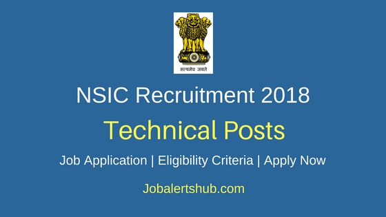 National Small Industries Corporation (NSIC) Faridabad 2018 Recruitment Guest Faculties and Laboratory Personnel Posts – 07 Vacancies | Diploma, Degree | Apply Now