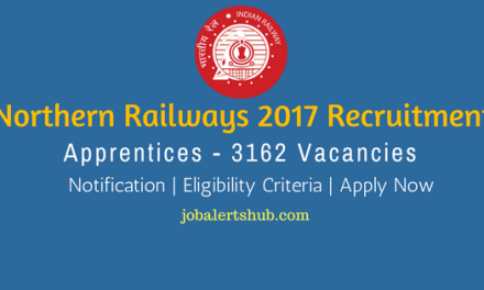 Northern Railways 2017 Recruitment | Apprentice – 3162 Vacancies | 10th + ITI | Apply Now