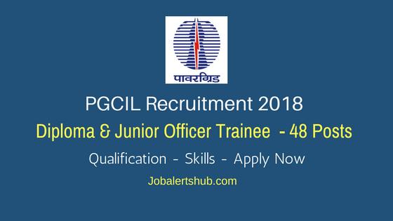 pgcil recruitment diploma trainee junior officer trainee pgcil recruitment 2018 diploma trainee junior officer trainee job notification