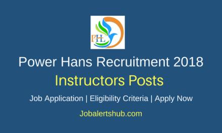 Power Hans 2018 Instructors Jobs – 10 Vacancies   Diploma   Apply Now