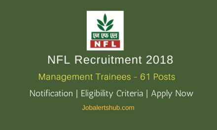 NFL Recruitment 2018   Management Trainees – 61 Posts   GATE 2016 + B.Tech   Apply Now @ www.nationalfertilizers.com