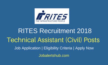 RITES 2018 Technical Assistant (Civil) Posts – 10 Vacancies   Diploma  Apply Now