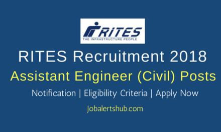 RITES Assistant Engineer (Civil) Jobs – 10 Vacancies | Degree (Civil Engg)| Apply Now