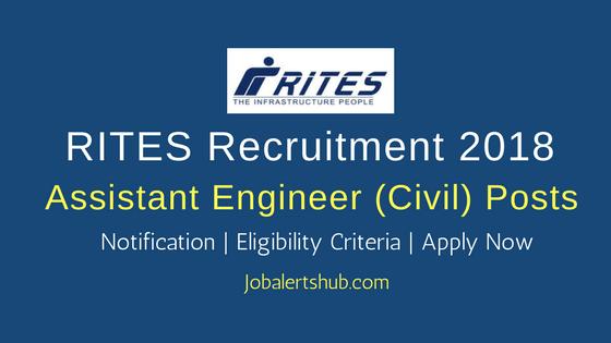 RITES Assistant Engineer (Civil) Jobs – 10 Vacancies   Degree (Civil Engg)  Apply Now