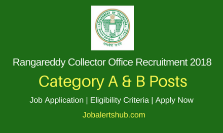 Rangareddy Collector Office 2018 Typist, Jr Asst, Pharmacist, MPHA Posts – 14 Vacancies | SSC, 10+2, D.Pharmacy, Any Degree | Apply Now