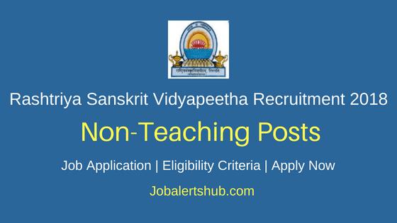 Rashtriya Sanskrit Vidyapeetha Tirupati 2018 Programmer & Asst Programmer Jobs – 02 Posts | Degree, Master Degree, PG | Apply Now