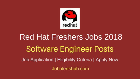 Red Hat Software Engineer Freshers Jobs 2018 Bangalore | B.E/B.Tech | Apply Now