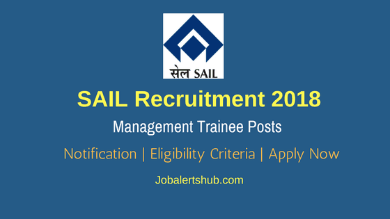 SAIL Recruitment 2018 For MT Posts – 382 Vacancies | B.Tech + GATE 2018 | Apply Now