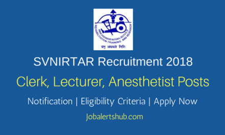 SVNIRTAR Olatpur Typist, Lecturer, Anesthetist Posts – 06 Vacancies | 12th, MBBS, MS | Apply Now