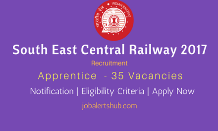 South East Central Railway 2017 Recruitment | Apprentice – 305 Vacancies | 10th + ITI | Apply Now
