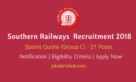 South Western Railway Recruitment 2018   Group C – 21 Posts   12th Class/10th + ITI   Apply Now