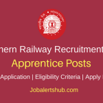 Southern Railway 2018 Apprentice Posts – 2652 Vacancies | 10th, 12th, ITI | Apply Now