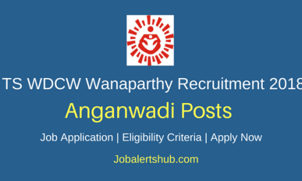 TS WDCW 2018 Wanaparthy Dist. Anganwadi Posts | 10th Class | Apply Now