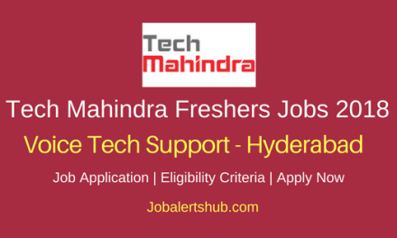 Tech Mahindra Hyderabad Freshers Voice Tech Support Jobs 2018 – 50 Vacancies | Graduation | Walkin: 20th – 23rd June'18