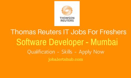 Thomas Reuters 2017 Recruitment Freshers   Software Developer   Graduate   Mumbai   Apply Online