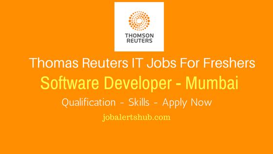 Thomas Reuters 2017 Recruitment Freshers | Software Developer | Graduate | Mumbai | Apply Online