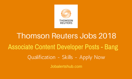 Thomas Reuters Content Developer Freshers 2018 Vacancies | Graduation/PG | Hyderabad | Apply Now