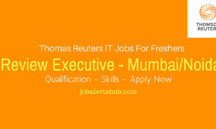Thomas Reuters Recruitment 2017 | Review Executive | Graduate | Apply Now