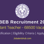 UPBEB Recruitment 2018 | Assistant Teacher – 68500 Posts | Degree/PG | Apply Now @ upbasiceduboard.gov.in