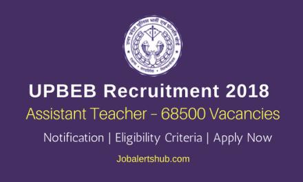 UPBEB Recruitment 2018   Assistant Teacher – 68500 Posts   Degree/PG   Apply Now @ upbasiceduboard.gov.in
