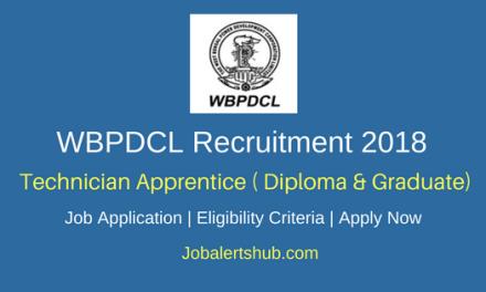 WBPDCL 2018 Technician Apprentice Posts – 60 Vacancies | Diploma/Graduate | Apply Now