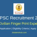 WBPSC 2018 Junior Civilian Finger Print Expert Posts – 28 Vacancies | Graduation in Science| Apply Now