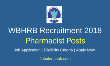 West Bengal Health Recruitment Board (WBHRB) 2018 Recruitment Pharmacist Grade III Posts – 590 Vacancies | 12th, Diploma, Bachelor Degree | Apply Now