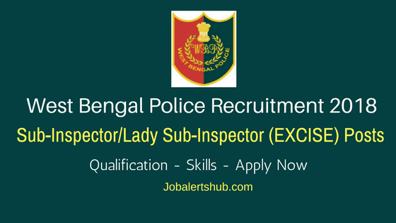WB Sub Inspector/ Lady Sub Inspector Excise Posts – 161 Vacancies | Graduation | Apply Now