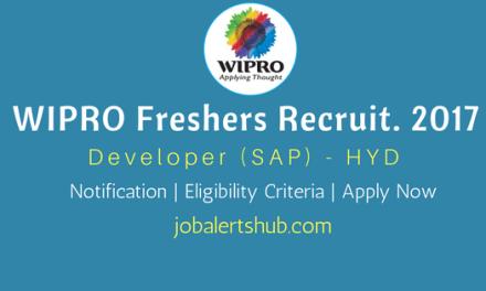 Wipro Freshers Recruitment 2017 | SAP | Graduate | Apply Now