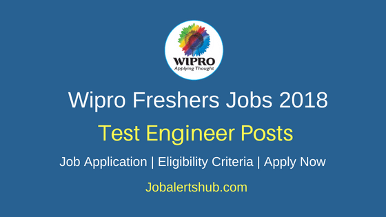 Wipro Test Engineer Freshers Jobs 2018 Hyderabad | Any Graduation/PG | Apply Now