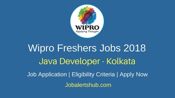Wipro Kolkata Java Developer Freshers Jobs 2018 | Degree/PG | Apply Now