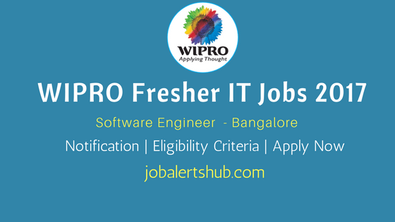 Wipro Recruitment 2017 Freshers | Engineer | Graduate | Bangalore