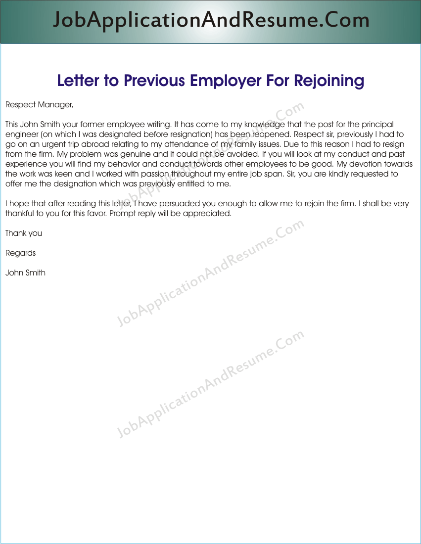 Resignation Letter Due To Medical Reasons Sample Letter To Rejoin The Job Jaar Head Hunters
