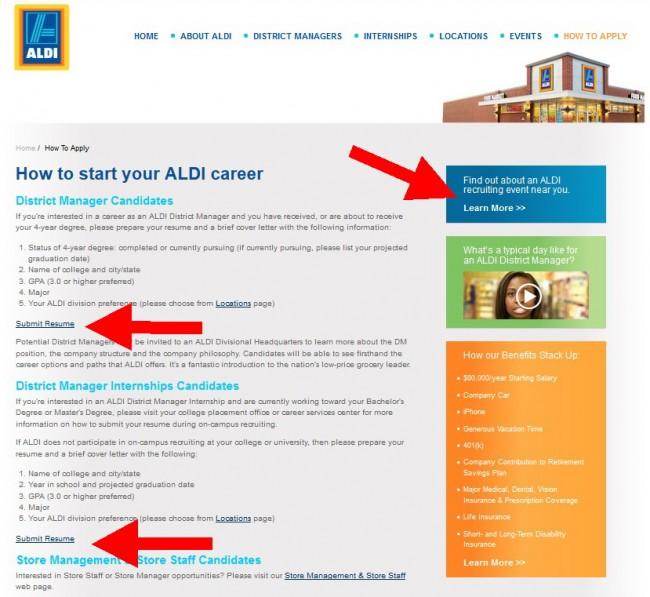 Resume Aldi Application