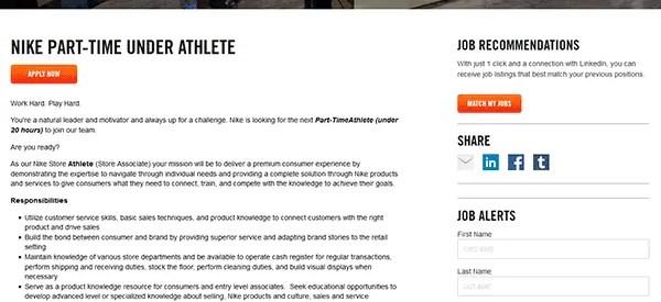 Nike Job Application Apply Online