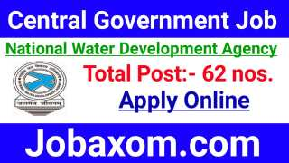 National Water Development Agency Recruitment 2021 - Apply Online for 62 Vacancy