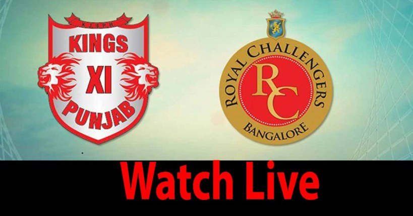 Royal Challengers Bangalore vs Kings XI Punjab Live Streaming-Live Cricket Score