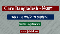 Care Bangladesh Job Circular 2018 – carebangladesh.org