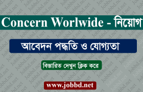 Concern Worldwide Job Circular 2018