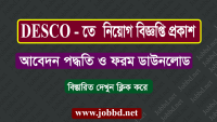 Dhaka Electric Supply Company Limited DESCO Job Circular 2018 – desco.org.bd