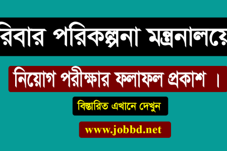 Family Planning Written Exam result 2018 | DGFP exam result 2018- dgfp.gov.bd