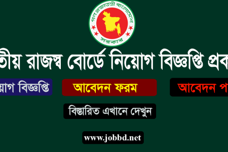 NBR Job Circular 2019 Apply Process – www.nbr.gov.bd