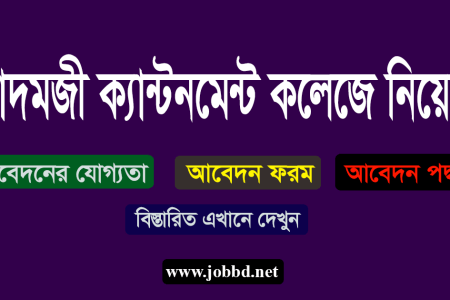 Adamjee Cantonment College Job Circular 2020 Application Process