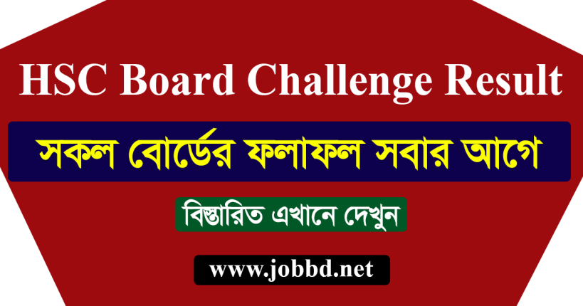 HSC Board Challenge Result 2019 All Board Khata Challenge Result
