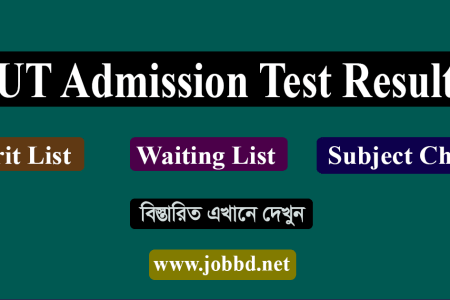 IUT Admission Test Result 2018-19 Subject Choice Viva Date