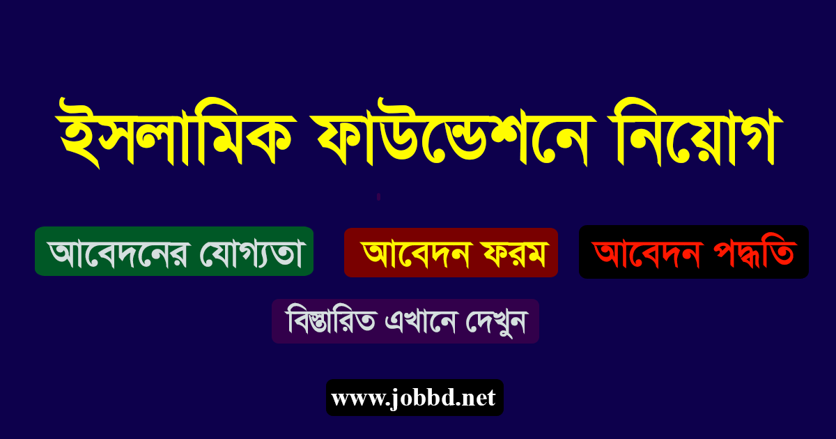 Islamic Foundation Job Circular 2019-islamicfoundation.gov.bd